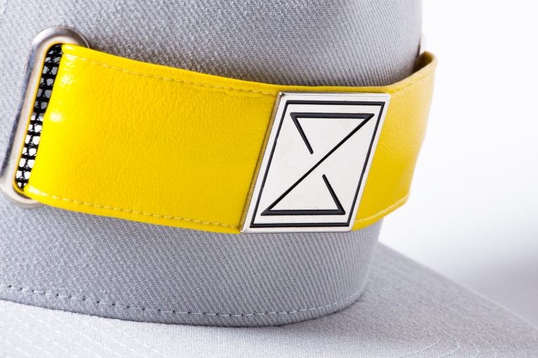 Fresh Grey Strap Hat | Caution Yellow Strap | Interchangeable Headwear