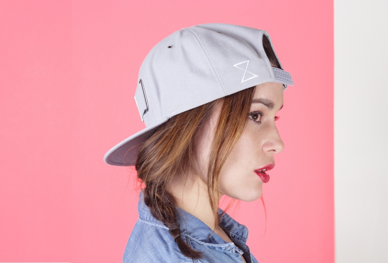 Grey Strap Hat | Chronology Headwear | Interchangeable Snapbacks